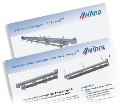Download data sheets about our Vibration Conveyors etc