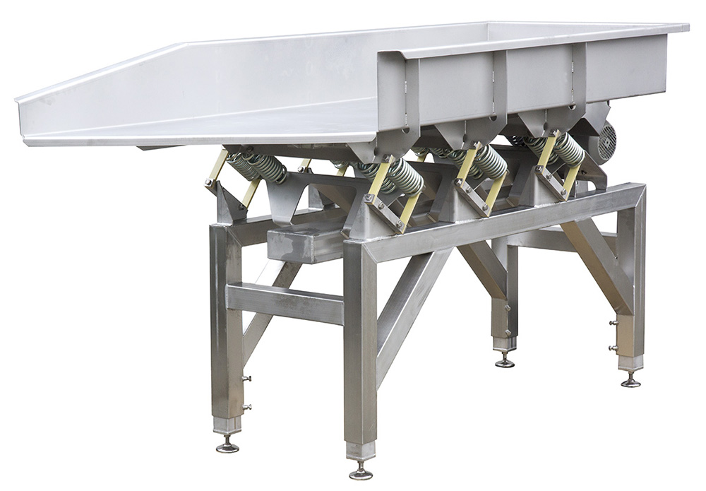 Alvibra Vibratory Feeder - open - with ViFlex - Alvibra Vibratory Feeder – Open, Powered by Viflex